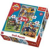 Puzzle Pompierul Sam 3 in 1